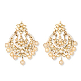 Pearl Shimmer Chandbali Earrings