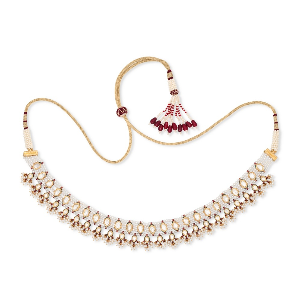 Pearl Meenakari Necklace Set