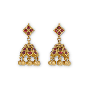 Ruby Temple Earrings